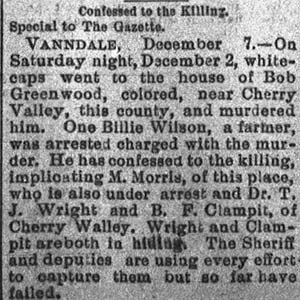 Bob Greenwood Lynching Article