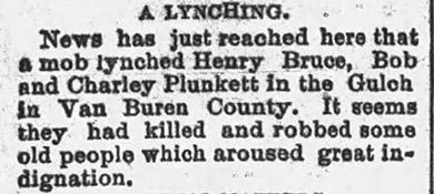 Van Buren County Lynching Article