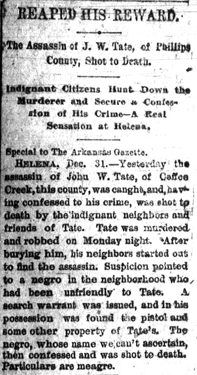 Phillips County Lynching Article