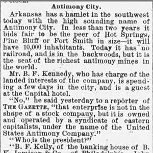 Antimony City Article