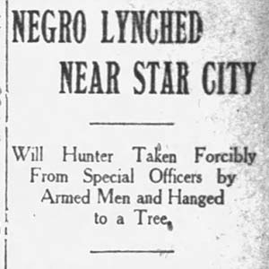 William Hunter Lynching Article