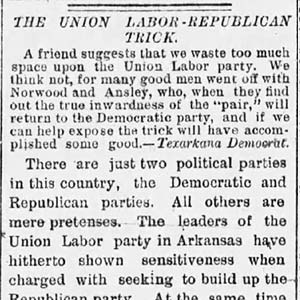 Union Labor Party Article