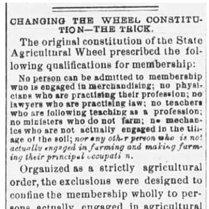 Agricultural Wheel Article