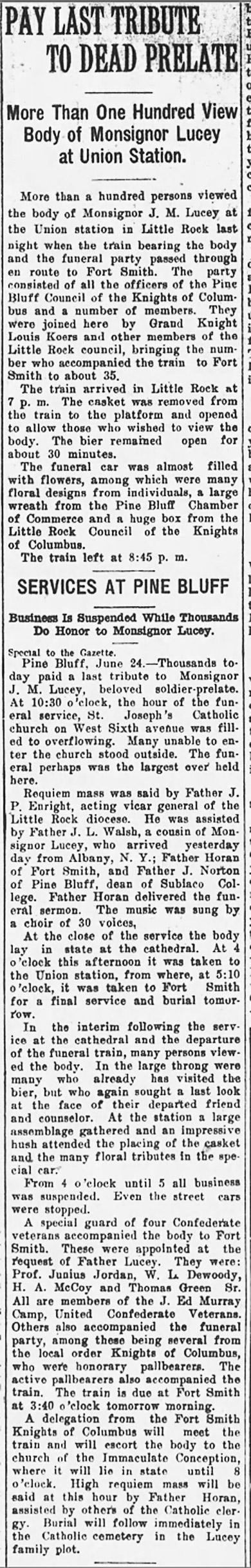 J. M. Lucey Obituary