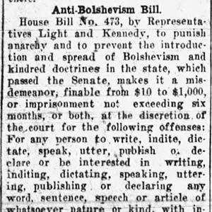 Anti-Bolshevism Act