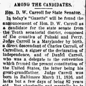 Carroll Endorsement Article