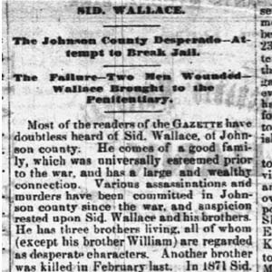 Sidney Wallace Article