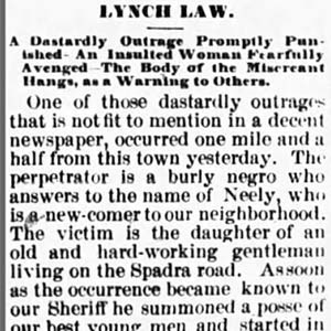 Hemp Neal Lynching Article