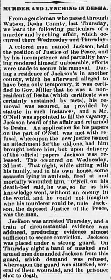 Henry Jackson Lynching Article