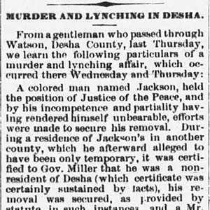 Henry Jackson Lynching Article