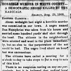 Ban Humphries Murder Letter