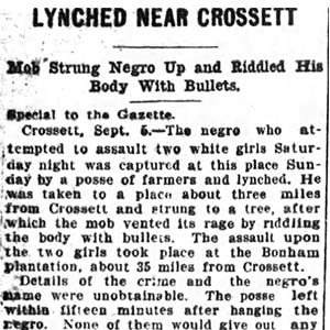 Crossett Lynching Article