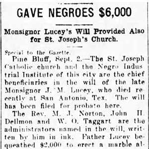 J. M. Lucey Will Article