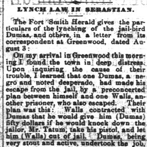 Dumas Lynching Article