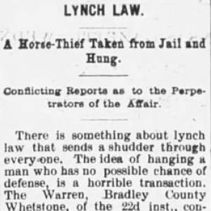 William Yancey Lynching Article