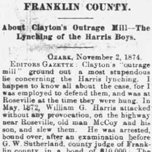 Logan County Lynching Article