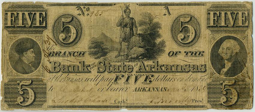 Arkansas State Bank Note, 1839