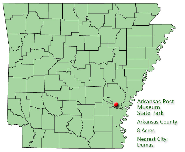 Arkansas Post Museum State Park: Park Location
