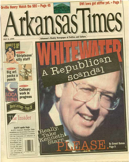 Arkansas Times Coverage of Whitewater Scandal