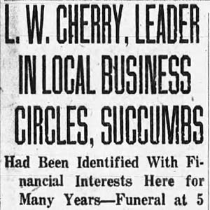 Lewis W. Cherry Article