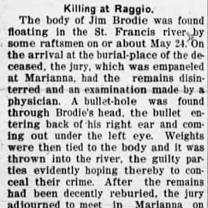 Brodie Lynching Article