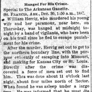 William Herrig Lynching Article