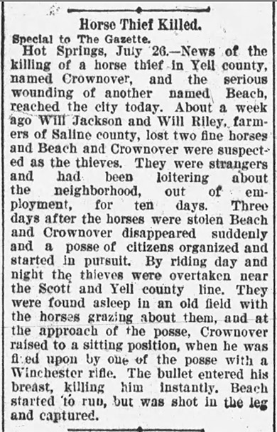 Crownover Lynching Article
