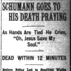 Clarence Schumann Execution Article
