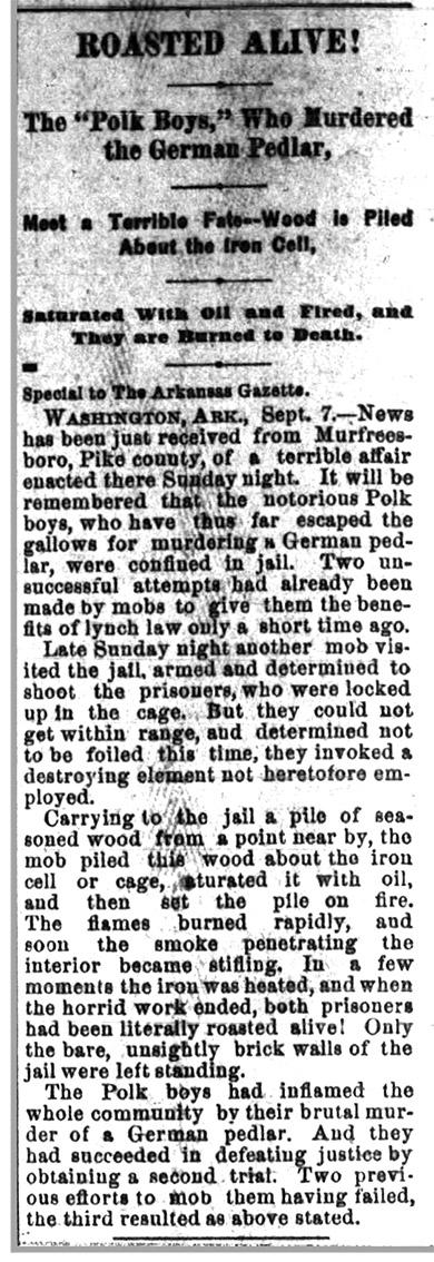 Polk Brothers Lynching Article