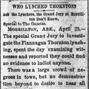 Flanigan Thornton Lynching Article