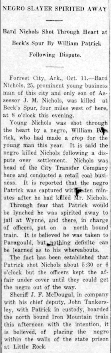 William Patrick Lynching Article