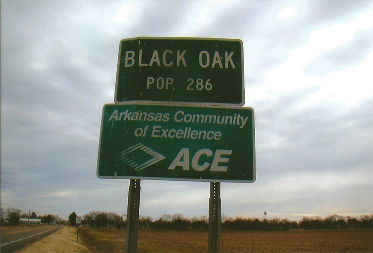 Black Oak Sign