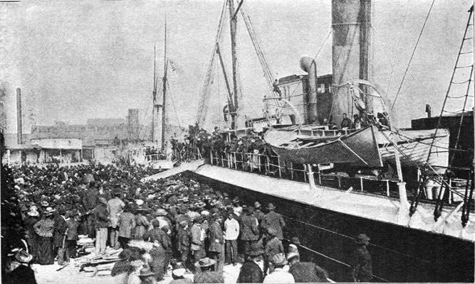 The Laurada Departing for Liberia