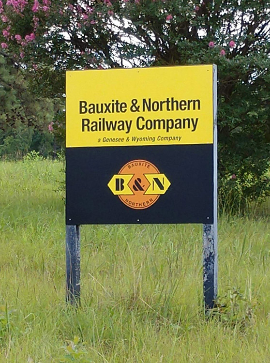 B&N Railway Sign