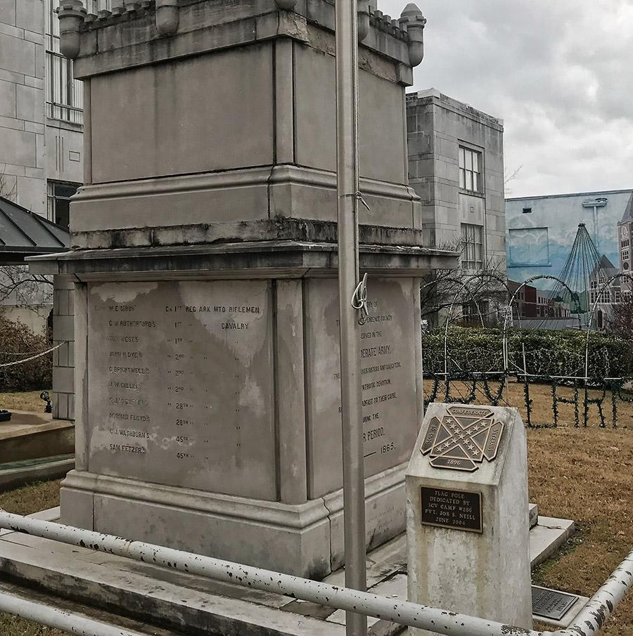 Batesville Confederate Monument Detail