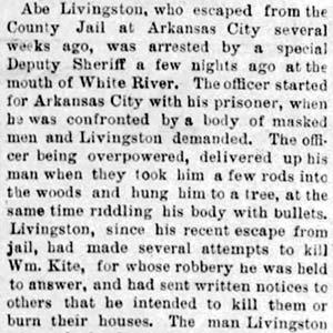 Abe Livingston Lynching Article