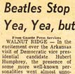 Beatles Stopover Article