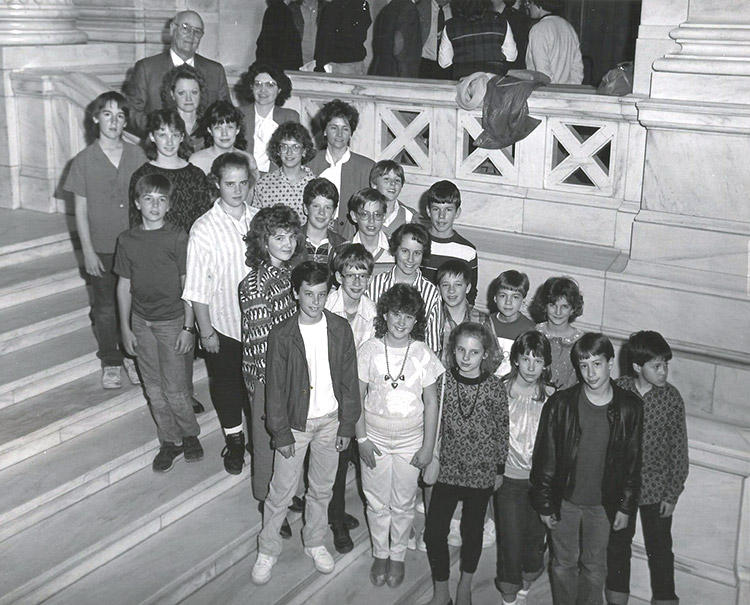 Bill Foster with Students