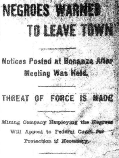 African Americans in Bonanza