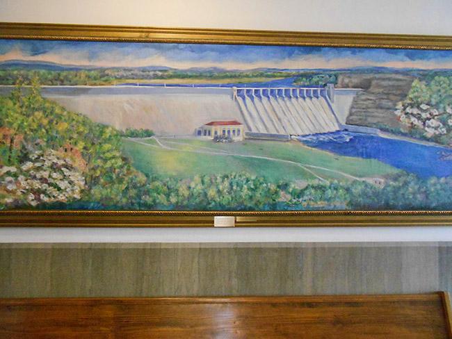Bull Shoals Dam Painting