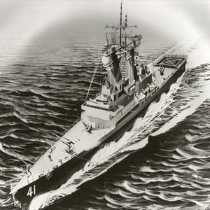 USS Arkansas Drawing