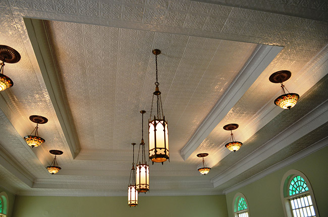 Calico Rock Methodist Episcopal Church Ceiling
