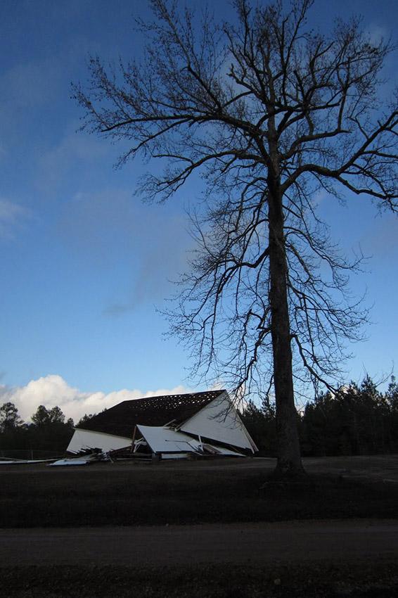 Camp Springs Methodist Church after Tornado Damage