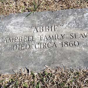 Grave of Family Slave