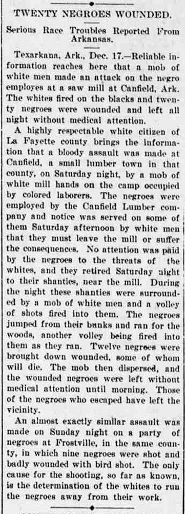 Canfield Race War Article