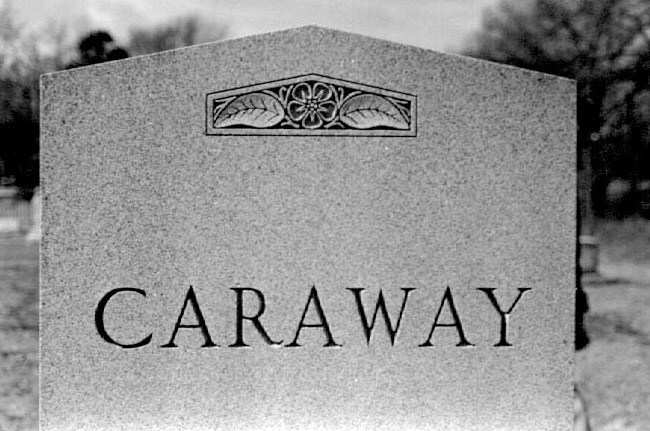 Caraway Tombstone