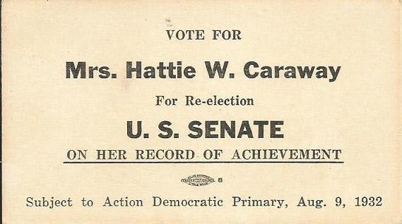 Hattie Caraway Card