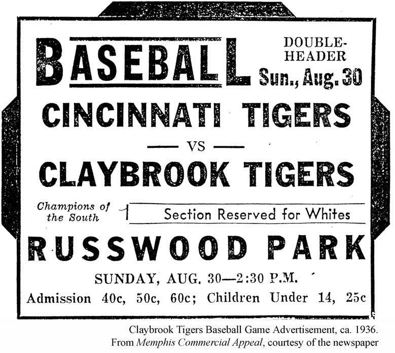 Claybrook Tigers Ad