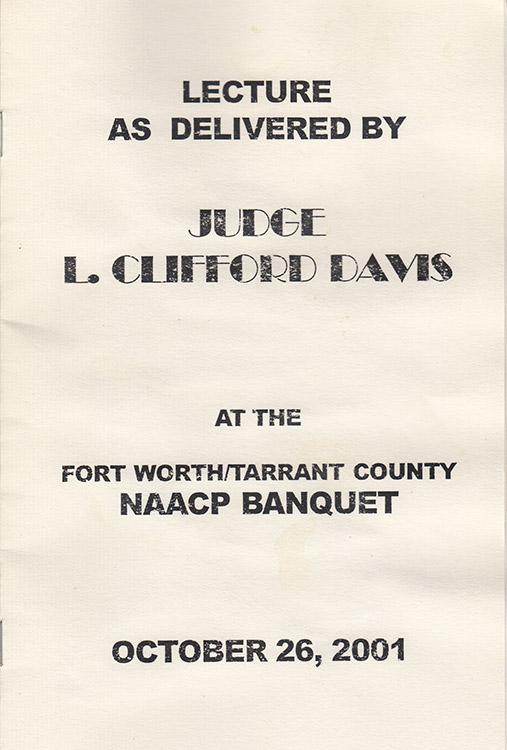 L. Clifford Davis Lecture