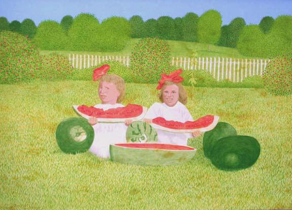 Watermelon Girls by Carroll Cloar